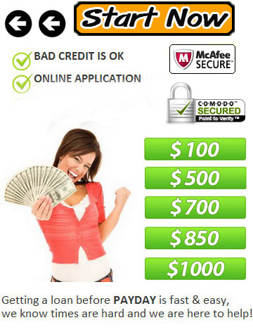 Up to $1000 Fast Loan Online. www.725cash com No Credit is not a problem.